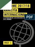 Informe AI 2017-18 La Situación de Los DDHH en El Mundo
