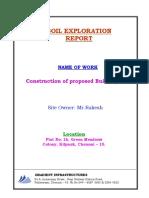 Soil Exploration Report-kilpauk