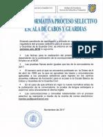 Nota Informativa Ingreso Escala Cabos y Guardias 2018