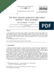 (Bakker & Pekoz,2003)-The FEM for Thin-walled Members-basic Principles