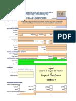 Ficha de Inscripción Ingeniería de Carreteras