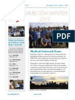 Volunteers Around the World - Cambodia Winter 2017 Newsletter