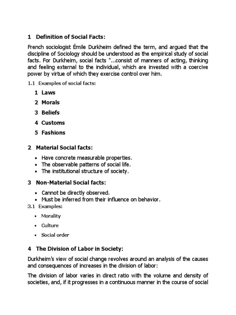 Social Facscx Mile Durkheim Conscience