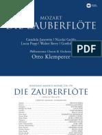 Booklet Otto Klemperer Mozart Die Zauberflöte