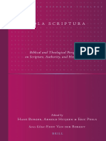(Studies in Reformed Theology) Hans Burger (Ed.), Arnold Huijgen (Ed.), Eric Peels (Ed.)-Sola Scriptura_ Biblical and Theological Perspectives on Scripture, Authority, And Hermeneuti