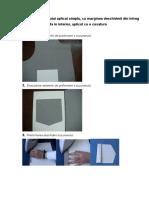 Microproces Tehnologic Executia Buzunarului Aplicat Simplu, Cu Marginea Deschiderii Din Intreg Fixata in Interior, Aplicat Cu o Cusatura.docx