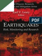 [Earl v. Leary (Editor)] Earthquakes Risk, Monitor