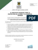 Comunicado de Prensa 009