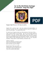 Open Letter to Hog Pen High