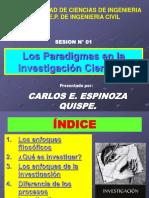 SESION N° 001 - PARADIGMAS DE LA INVESTIGACION