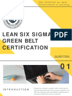 Lean Six Sigma Green belt Certification - ISEL