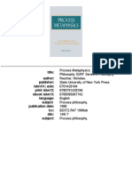 RESCHER Process Metaphyics - An Introduction to Process Philosophy