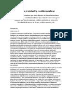 Reforma Protestante y Constitucionalismo
