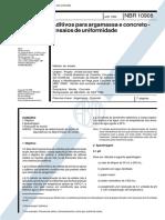NBR 10908 Aditivos para argamassa e concreto- Ensaios de uniformidade.pdf