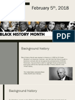 february 5th - black history month