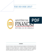 Angola 2017 Approval External Enacted Budget Ministry of Finance Eccas Sadc Portuguese 1