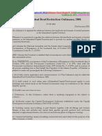 Rent Restriction Order 2001