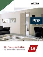 ASTRA CPL-Türen-Kollektion 2.0 2015