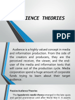 Audience Theories New