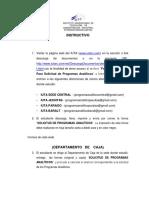 Forma e Instructivo Para Solicitud de Programas Analiticos