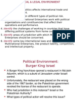 Political & Legal Environment of IB