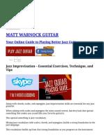 Jazz Improvisation - Essential Exercises, Technique, And Tips _ MATT WARNOCK GUITAR