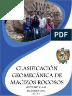Clasificación geomecánica de macizos rocos