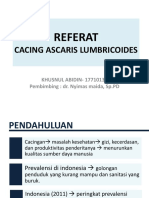 Referat cacing Ascaris Lumbricoides