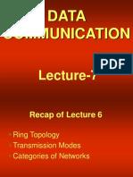 data communication - cs601 power point slides lecture 07  1