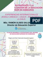 6. Plan Estrategico y La Internacionalizacion de La Educacion Superior en Honduras Desde Experiencias Internacionales Iesal Unesco Csuca Anuis y Chile
