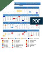 Calendario Sao Jose Dos Campos Sp 2018