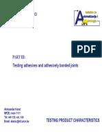TPC Testing Adhesives