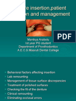 Denture Insertion,Patient Education and Management