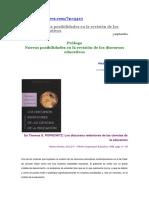 Torres, J. (2017). Prólogo. Nuevas posibilidades revisión discursos.docx