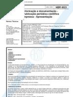 NBR 6021-2003 - Publicação periódica científica impressa - documento Extra