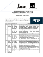 Procurement Notice (Request Expression of Interest) for Individual International Consultan IPDMIP Project