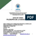 Guía de Curso Filosofía de La Educación