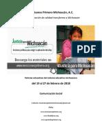 Síntesis Educativa Semanal de Michoacán al 27.02.2018
