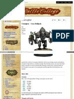 Battlecollege - Corruptor – Cryx Helljack