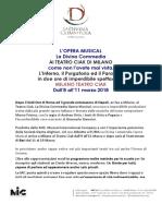 La Divina Commedia  a Milano
