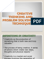 Creative Thinking and Problem Solving Techniques