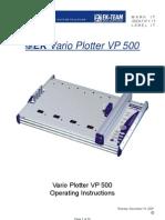 Manual Plotter VP 500