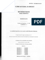 Brevet Maths 2016 Amerique Du Nord