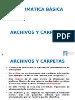Archivos y carpetas