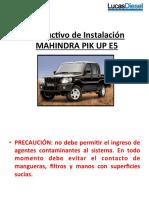 Instructivo Mahindra e5 2.2