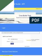 CBT Merchant Portal Guide - API Shippment From USA