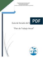 GUÍA DE LLENADO DE FORMATO PLAN ANUAL