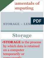 1st Form - Storage - Lesson 6