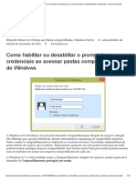 Como Habilitar Ou Desabilitar o Prompt de Credenciais Ao Acessar Pastas Compartilhadas Do Windows – Eduardo Mozart