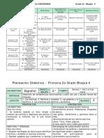 PLANEACIÓN DE SEGUNDO GRADO BIMESTRE 4, 2017-2018